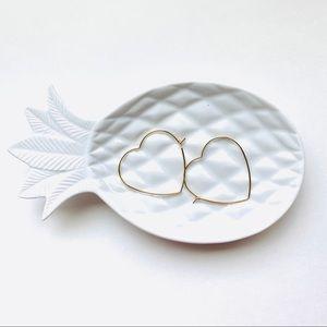 Heart Hooped Earrings 14 Karat Gold Dipped